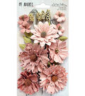 49 And Market Vintage Shades Botanical Blends 23 pk Flowers-Cerise