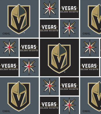 Vegas Golden Knights Cotton Fabric 43''-Block