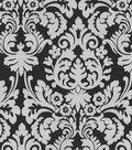 Waverly Lightweight Decor Fabric 54\u0022-Close Up/Ebony