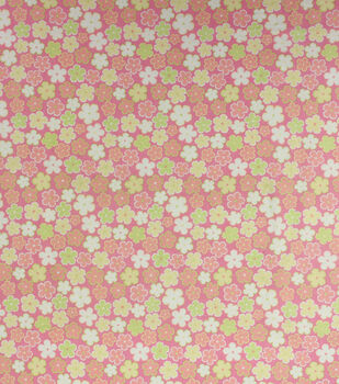 Super Snuggle Flannel Fabric-Pink Floral