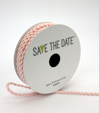 Save the Date 4mm x 15ft Cord-Blush