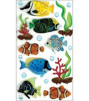 Jolee's Boutique Le Grande Dimensional Sticker-Tropical Fish Large, , hi-res