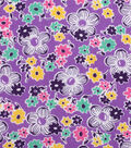 1930\u0027s Cotton Fabric 43\u0022-Packed Flowers Purple