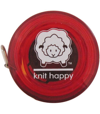"""Knit Happy Tape Measure 60""""-Red"""