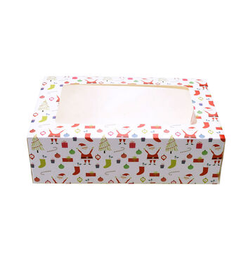 Christmas Holiday 3 pk Cookie Boxes-Novelty Print