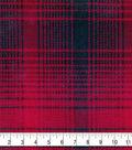 Fleece Fabric -Mica Red & Black Plaid