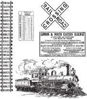 Tim Holtz Cling Rubber Stamp Set-On The Railroad, , hi-res