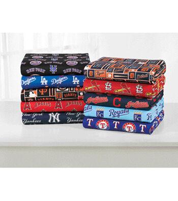 Assorted MLB Fleece Remnants-10yds