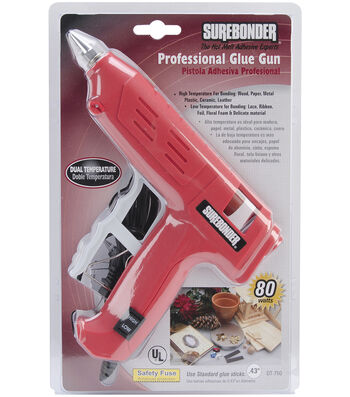 Surebonder Dual-Temperature Professional Glue Gun-Red