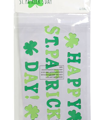 St. Patrick's Day Decor Gel Clings-Happy St. Patrick's Day