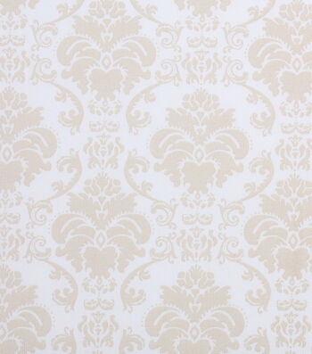 "Holiday Showcase Harvest Cotton Fabric 43""-Cream Damask"