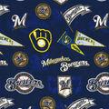 Milwaukee Brewers Cotton Fabric -Vintage