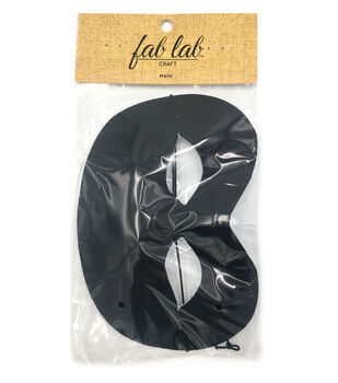 Darice Half Face Mask-Black