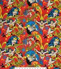 DC Comics Wonder Woman Flannel Fabric 42\u0022-Burst Print