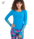 Simplicity Pattern 8423 Misses\u0027 Knit Top & Headwrap-Size A (XXS-XXL)
