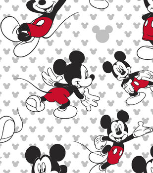 Disney Mickey Mouse Cotton Fabric 43 Totally Toss