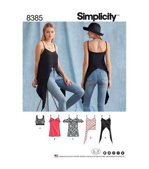 32149fb419c62 Simplicity Pattern 8385 Misses  Tops   Knit Bralette-Size P5 (12-20