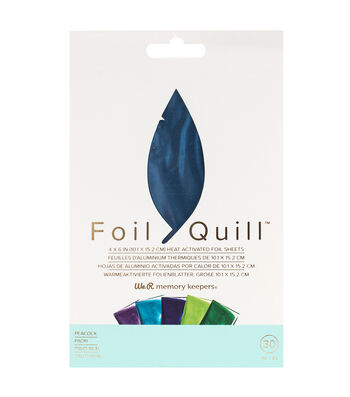 We R Memory Keepers Foil Quill 30 pk 4''x6'' Foil Sheets-Peacock