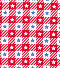 Patriotic Cotton Fabric -Blue Stars