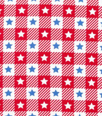 "Patriotic Cotton Fabric 60""-Blue Stars"