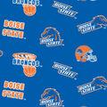 Boise State University Broncos Cotton Fabric -Allover