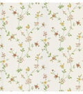 Daisy Yellow Floral Trail Wallpaper Sample