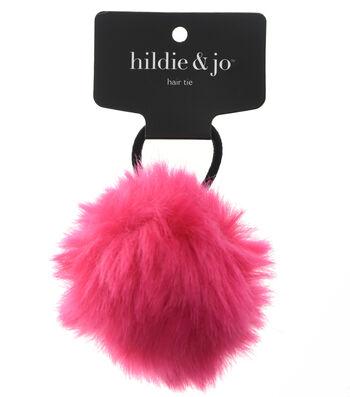 hildie & jo Pom Hair Tie-Fuchsia