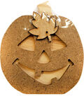 Foundations Decor Interchangeable \u0022O\u0022 Wood Shape-October-Jack-O-Lantern