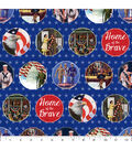 Patriotic Cotton Fabric -Home of the Brave