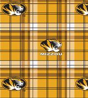 "University of Missouri Tigers Fleece Fabric 58""-Plaid, , hi-res"