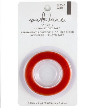 Park Lane Paperie Double-sided Ultra Sticky Tape 0.25''x7 yds-Red