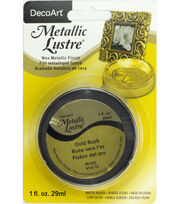 DecoArt Metallic Lustre 1fl. oz. Wax-Gold Rush, , hi-res