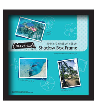 MCS Industries Collector's Museum Shadow Box Frame 10''x10''-Black
