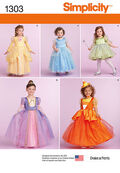 Simplicity Pattern 1303-Toddlers\u0027 and Child\u0027s Costumes