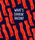 Snuggle Flannel Fabric -What\u0027s Shakin\u0027 Bacon?