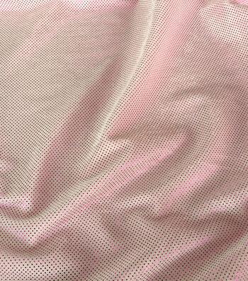 Glitterbug Foil Fabric -Light Pink