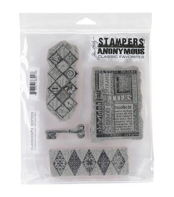 Tim Holtz Cling Rubber Stamp Set-Classics #3