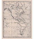 Hero Arts Wood Mounted Stamp-Map of America