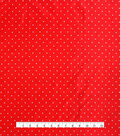 Anti-Static Lining Fabric -White on Red Dots