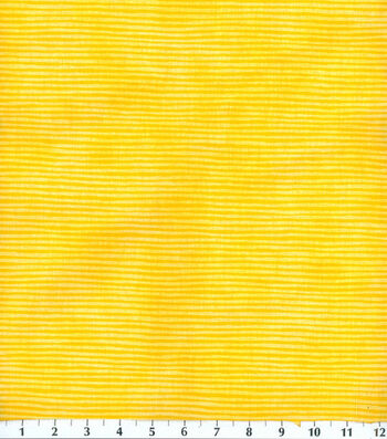 "Keepsake Calico™ Cotton Fabric 44""-Yellow Stripe"