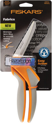 Fiskars RazorEdge Easy Action 8In Fabric Shears, , hi-res