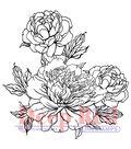 Deep Red Cling Stamp 2\u0022X2\u0022-Carnation Blooms