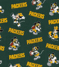 Green Bay Packers Cotton Fabric-Mickey Minnie