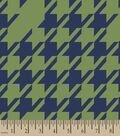 Green & Navy Houndstooth Print Fabric