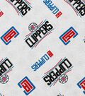 LA Clippers Cotton Fabric 44\u0022-Logo Toss