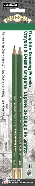 Kimberly Graphite Drawing Pencils 2/Pkg-4H