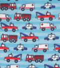 Blizzard Fleece Fabric-Blue Transportation
