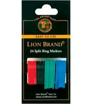 Lion Brand Split Ring Markers-24/Pkg, , hi-res