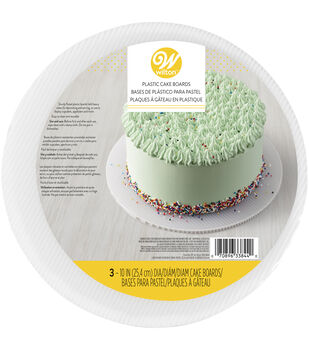 Wilton 3 pk 10'' Round Plastic Cake Boards