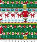 The Grinch Cotton Fabric 44\u0022-Stripe